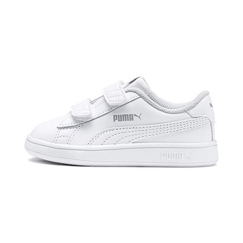 Puma - Smash V2 L V Inf, Zapatillas Unisex Niños, Blanco (Puma White-Puma White 02), 23 EU