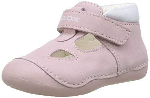 Geox B TUTIM A, Zapatillas Niñas, Rosa (Lt Pink/White C0811), 18 EU