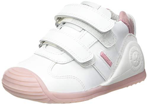 Biomecanics 151157, Zapatillas Niñas, Color Blanco y Rosa, 22 EU
