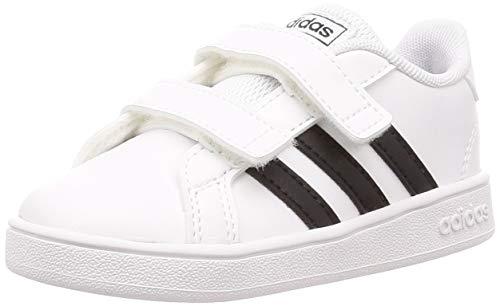 adidas Grand Court I, Zapatillas de Estar por casa Unisex niños, Blanco (Ftwbla/Negbás/Ftwbla...
