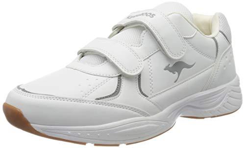 KangaROOS K-Lex V, Zapatillas Unisex Adulto, Blanco (White/Steel Grey 0011), 42 EU