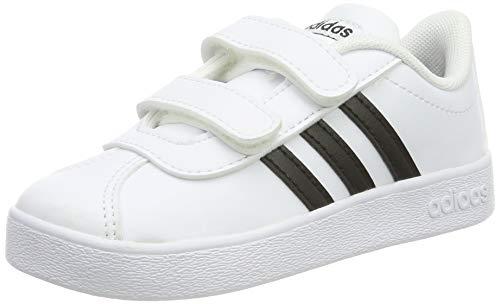 Adidas VL Court 2.0 CMF I, Zapatillas de Gimnasia, Blanco (FTWR White/Core Black/FTWR White FTWR...
