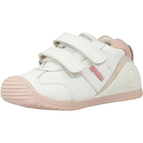 BIOMECANICS Botita 151157 Cuero Niñas Color Blanco-Rosa talla: 21