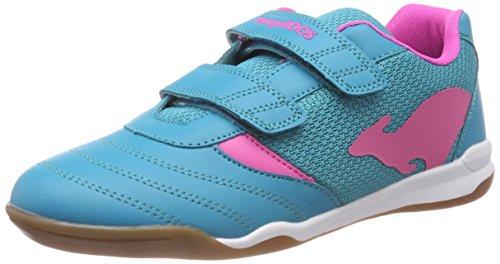 KangaROOS Chelo Comb V, Zapatillas Unisex niños, Blau (Turquoise/Daisy Pink 4112), 32 EU