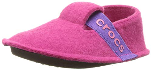 Crocs Classic Slipper K, Zapatillas de estar por casa, Unisex Niños, Rosa (Candy Pink), 30-31 EU
