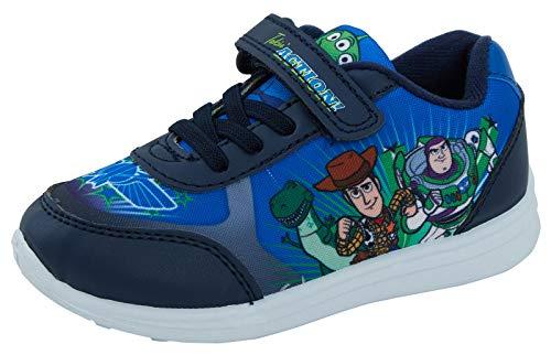 Toy Story Buzz Woody Rex Disney Boys Blue Trainers Calzado deportivo para niños