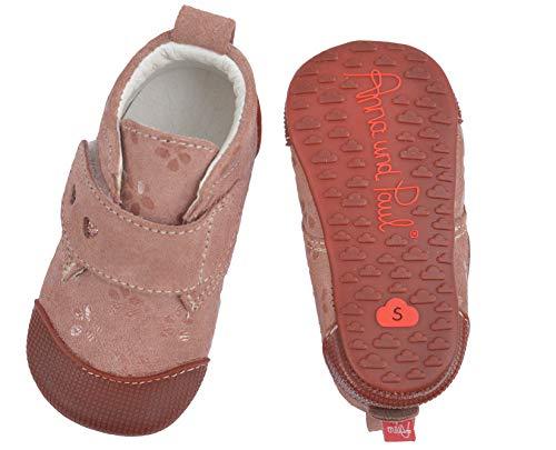 Anna und Paul Charlie 1292 - Zapatillas de estar por casa y para gatear para interior, color Rosa,...