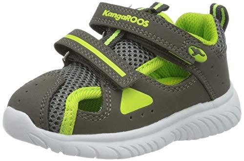 KangaROOS Ki-Rock Lite V, Zapatillas Unisex niños, Grau (Steel Grey/Lime 2014), 30 EU