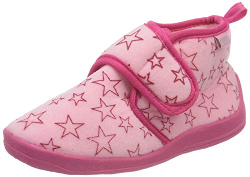 Playshoes Zapatillas Pastello, Pantuflas Unisex niños, Rosa (Rosa 14), 18/19 EU