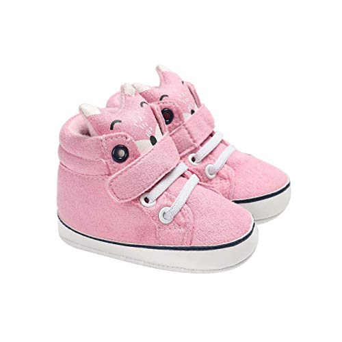 DEBAIJIA Bebé Niña Primeros Pasos Zapatos para 6-18 Meses Infante Zapato de Algodón Patrón de...