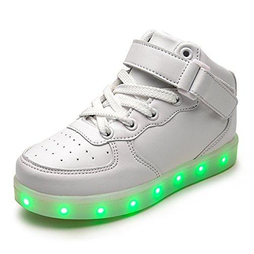 DoGeek Zapatos Led Niños Niñas 7 Color USB Carga Deportivas De Luces Zapatillas(Mejor Pedir una...