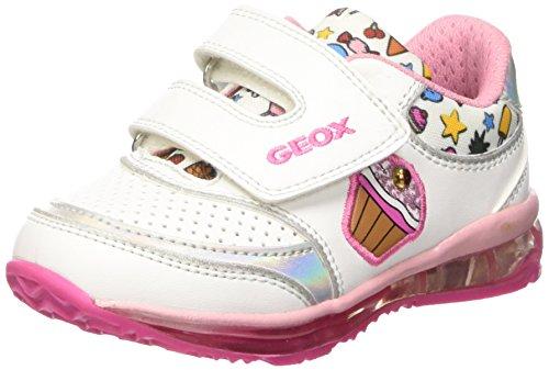 Geox B Todo Girl D, Zapatos de Primeros Pasos Niñas, Multicolor (White/Multi), 25 EU