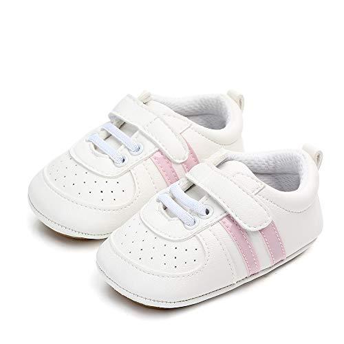 MASOCIO Zapatos Unisex Bebe Niña Recién Nacido Primeros Pasos Zapatillas Deportivas Bebé Suela...