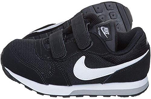 Nike MD Runner 2 (PSV), Zapatillas de Deporte Unisex niños, Negro (Black/White-Wolf Grey 001), 22...