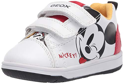 GEOX B NEW FLICK BOY A WHITE/RED Baby Boys' Trainers Low-Top Trainers size 22(EU)