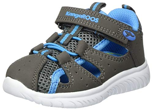 KangaROOS Ki-Rock Lite Ev, Zapatillas Unisex bebé, Grau (Steel Grey/Brilliant Blue 2007), 26 EU