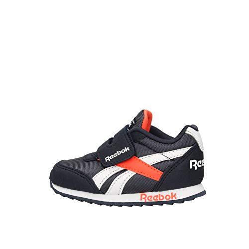 Reebok Royal Cljog 2 KC, Running Shoe, Collegiate Navy/Vivid Orange/White, 22 EU