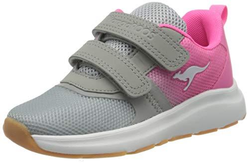 KangaROOS KB-agil V, Zapatillas Unisex Adulto, Grau (Vapor Grey/Neon Pink 2094), 39 EU