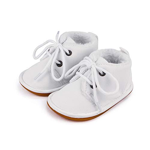 Lacofia Botas de Invierno de Suela de Goma para bebés niños o niñas Zapatillas de Deporte con...