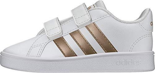 Adidas Grand Court I, Zapatillas de Estar por casa Unisex niños, Multicolor (Ftwwht/Coppmt/Glopnk...