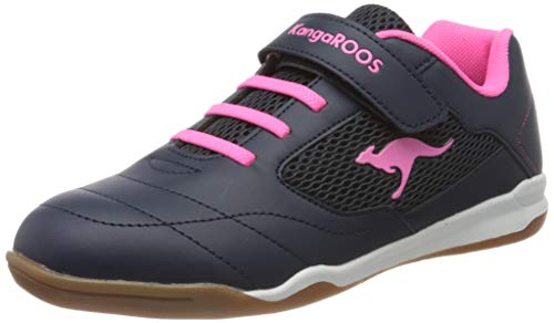 KangaROOS Raceyard Ev, Zapatillas Unisex Niños, Azul (Dk Navy/Daisy Pink 4204), 38 EU