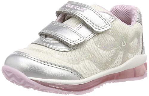 Geox B Todo Girl A, Zapatillas Niñas, White/Silver C0007, 24 EU
