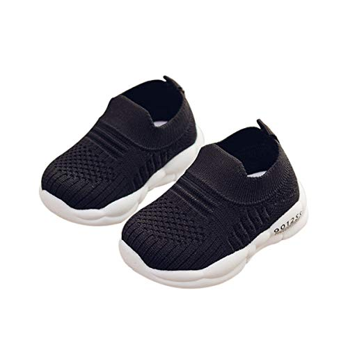 DEBAIJIA Zapatos para Niños 3-18M Bebé Caminan Zapatillas Cordones Transpirables Malla Ligera...