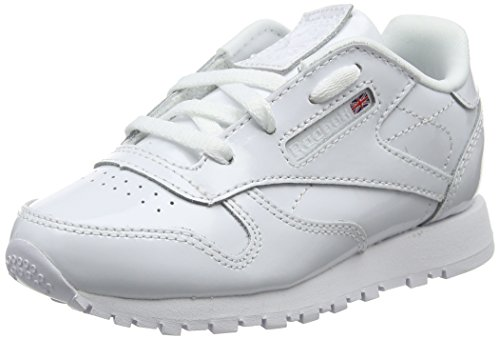 Reebok Classic Leather Patent, Zapatillas de Deporte Unisex niño, Blanco (White 000), 23.5 EU