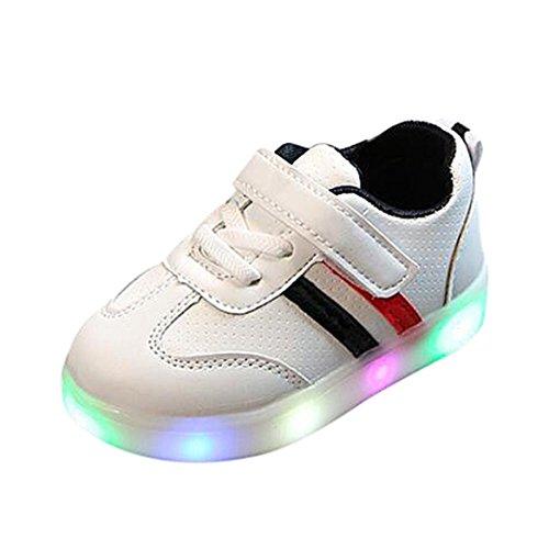Zapatillas Unisex Niños K-youth Zapatos LED Niños Niñas Zapatillas Niño Zapatillas de Rayas para...