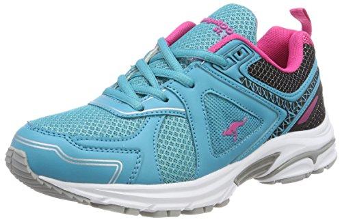 KangaROOS KR-Run 5, Zapatillas Unisex Adulto, Azul delfinio Blue Magenta Flower, 39 EU