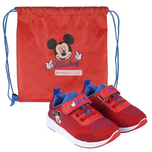 CERDÁ LIFE'S LITTLE MOMENTS Cerdá-Zapatillas para Niños de Mickey Mouse de Color Rojo, 21 EU