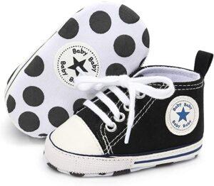 Zapatillas color Negro para Bebé